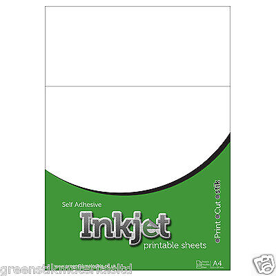 10 A4 Self Adhesive Inkjet Gloss Clear Polyester Film Sticker Sheets Ink Jet