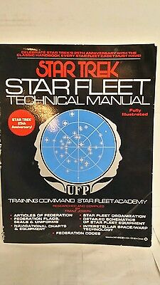 Star Trek Fleet Technical Manual 25th Anniversary 1986 Vintage Book