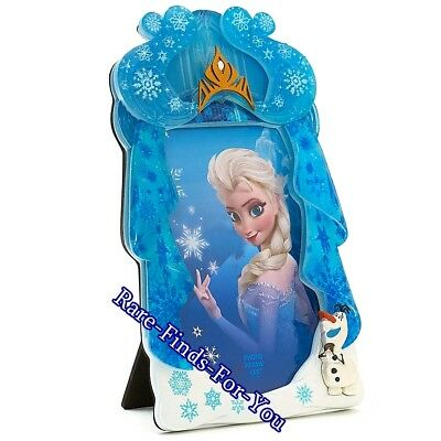 Disney Parks Frozen Princess Elsa and Olaf 4x6 Inch Photo Picture Frame (NEW)
