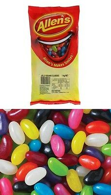 Allens Jelly Beans 1kg Bag Candy Buffet Treats Lollies Sweets Party Favors New