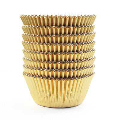 Gold Foil Metallic Cupcake Case Liners Baking Muffin Paper Cases 176Pcs