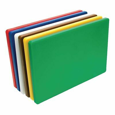 NEW POLYETHYLENE CUTTING BOARDS PE Chopping Cutting Set Colour Coded 6 HACCP
