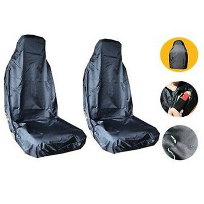 2pcs Universal 170D Auto Car Seat Cover Sleeve Protect for Saloon Car Black