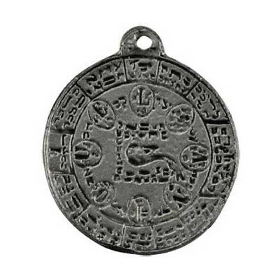 "Seal of Antiquelis Artisan Amulet Kabbalah Sigil Talisman 1.25"" Necklace Pendant"
