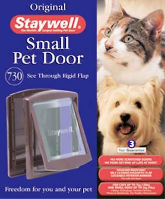 Staywell - Pet dog door / cat flap. Plastic cover. Original Brown Small / Medium