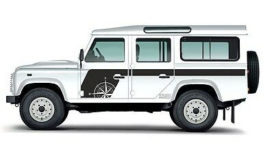 LAND ROVER DEFENDER 110  Aftermarket COMPASS DECAL Sticker SET Variant 1