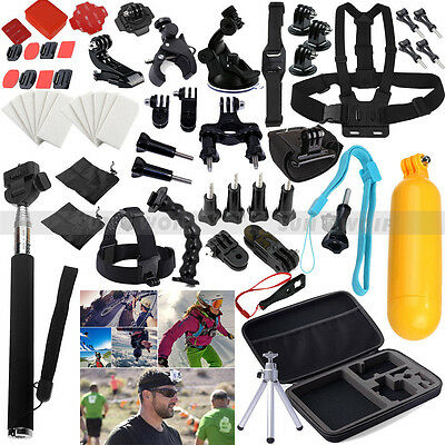 59 in 1 Pole Head Chest Mount Strap GoPro Hero 2 3 4 Camera Accessories Set Kit