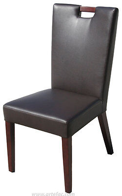 Brown n Grey Handle Back Leather Dining Chair R-787