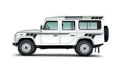 LAND ROVER DEFENDER 110  Aftermarket 3 Stripes Unique DECAL Sticker Set Graphics