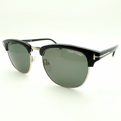 881f018b5622 TOM FORD TF 248 Henry 05N Black Gold Green New Authentic Sunglasses Bond -   239.95