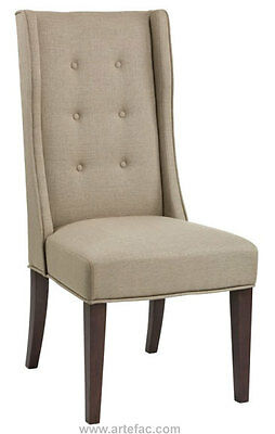 High Back Wing Dining Chair in Linen SR-100461