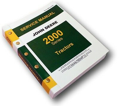 John Deere 2010 2000 Tractor Service Technical Manual Repair Shop New Print Oem