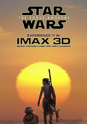 Star Wars Vii Force Awakens Imax Movie Poster George Lucas Ford Christie Driver