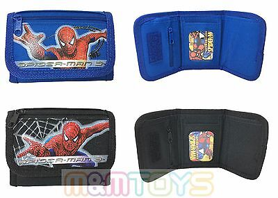 Marvel Spider-Man Black Blue Tri-Fold Wallet  Coin Purse Bag (1pc)