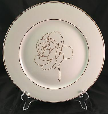 1 Block Spal Gold Rose Dinner Plate 10.5""