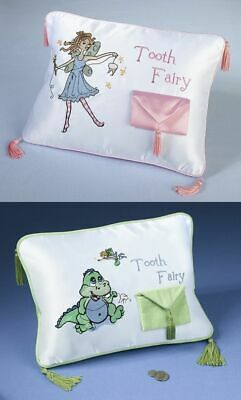 New Girl or Boy Tooth Fairy Pillow with Tooth Pouch Keepsake Gift