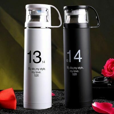 New Stainless Steel Travel Mug Tea Water Coffee Flask Vacuum Thermos Cup Bottle