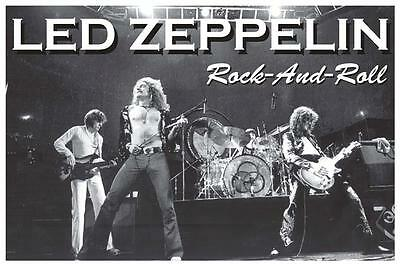 Led Zeppelin Rock N Roll Live On Stage Poster 36X24 New Fast Free Ship