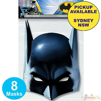 Batman Birthday Party Supplies 8 Face Masks Kids Loot Bag Favours Decorations