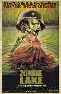 Zombie Lake Grindhouse Wizard Home Video Retro Series Poster Jean Rollin 1981