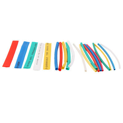 20PCS PVC Assorted Heat Shrinkable Tubing Wire Cable Sleeve 4 Sizes 5 Colors