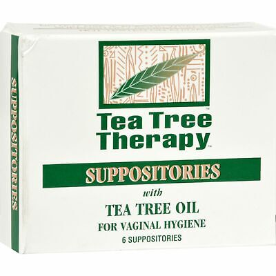 Tea Tree Therapy Vaginal Suppositories With Tea Tree Oil - 6 Suppositories  x 2