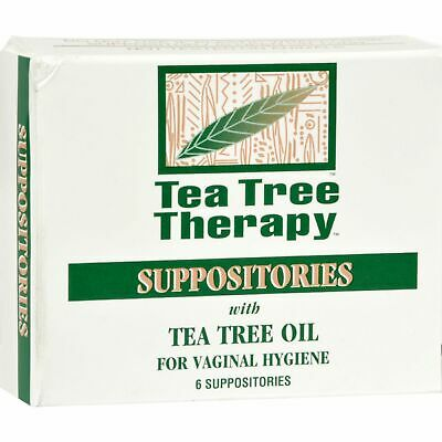 Tea Tree Therapy Vaginal Suppositories With Tea Tree Oil - 6 Suppositories  x 3