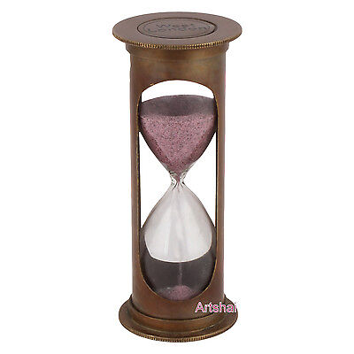 Artshai 3 minute Antique look hourglass sand timer for Nautical Decor