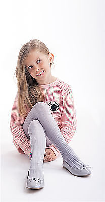"Girls Ribbed Tights  Soft Warm Natural Fibres Age 2-6 Knittex - ""ELZA"""