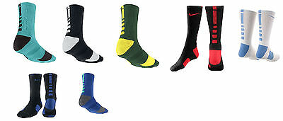 Nike Elite Cushioned Crew Basketball Socks Sx3693 - Color & Size Choices