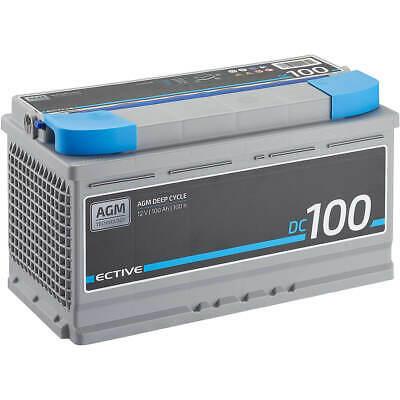 ECTIVE EDC100 AGM Deep Cycle 12V 100Ah Bleiakku Vlies-Batterie VRLA Batterie