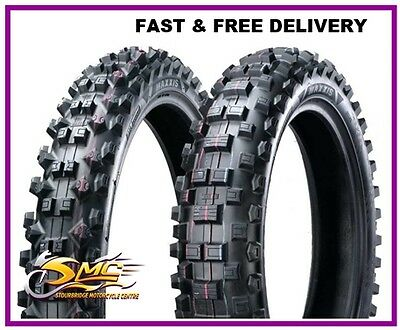 KTM 350 EXC-F Tyre Pair Maxxis 140/80-18 90/90-21 FIM Approved MX - ROAD LEGAL