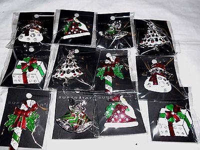 wholesale  Lot of 12pcs pretty Vintage  Brooches/pin for Christmas .
