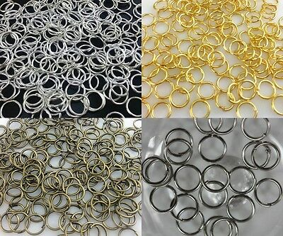 4mm,5mm,6mm,8mm,10mm,12mm,14mm Jump Rings Open Connectors Jewelry Finfing Charms
