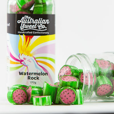 Watermelon Rock Candy Bulk Boiled Lollies - Wedding Favours Party
