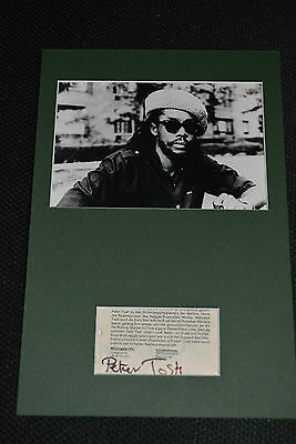 PETER TOSH signed Autogramm In Person  MARLEY Passepartout +1983 REGGAE LEGENDE