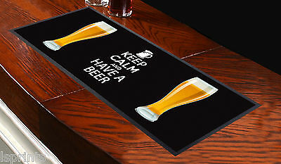 Keep Calm And Have A Beer V2 Bar Runner Ideal For Home Cocktail Party Bar Mat