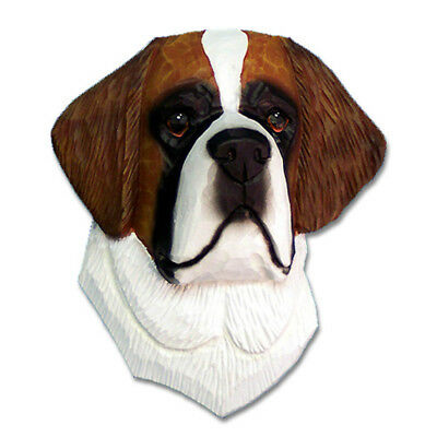 Saint Bernard Head Plaque Figurine
