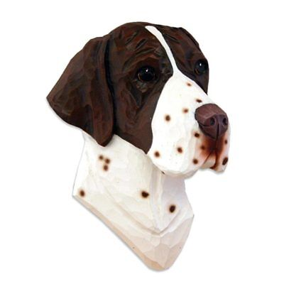English Pointer Head Plaque Figurine Liver