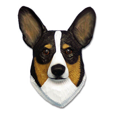 Corgi Head Plaque Figurine Tri Pembroke