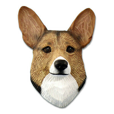 Corgi Head Plaque Figurine Sable Pembroke