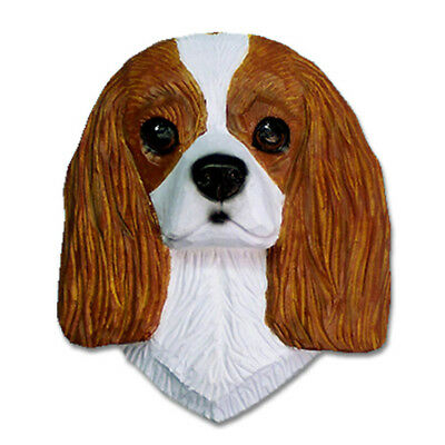 Cavalier King Charles Spaniel Head Plaque Figurine Blenheim