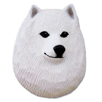 American Eskimo Dog Head Plaque Figurine
