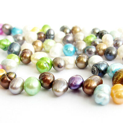 85Pcs Multi-Color Freshwater Pearl Jewelry Making Loose Beads Finding