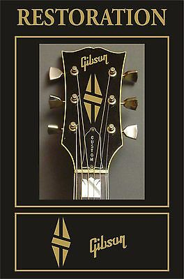 Pegatina Adesivo Autocollant Adesivi Sticker Decal  Gibson Headstock Restoration