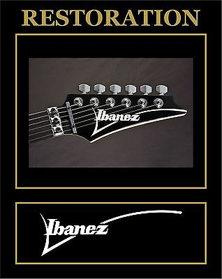 Pegatina Sticker  Decal Ibanez Headstock Restoration Guitarrra Guitar
