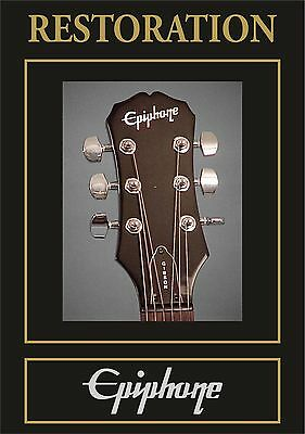 Pegatina  Autocollant Adesivi Sticker Decal Epiphone  Headstock Restoration