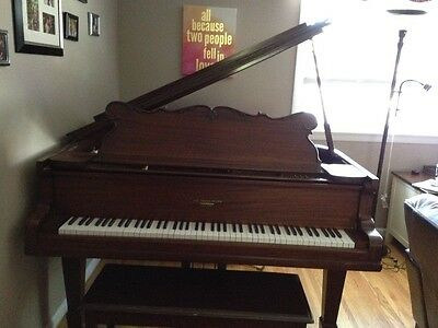 Peek & sons 5'4 baby grand antique piano