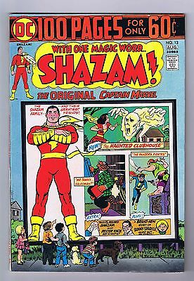 Shazam #13 Very Fine/Near Mint 100 Page 1974 OWP DC Comics Movie in the Works!