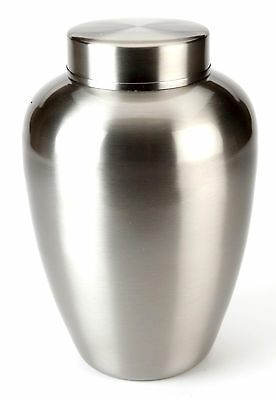 Steel Cremation Ashes Urn - Helston Pewter UU150001A